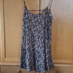 Garage flowy a line summer backless dress floral